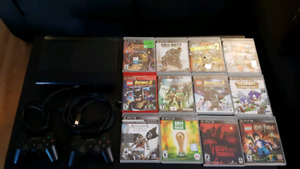 PS3 + 12 games, 2 controllers, and chords