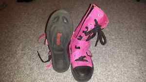 Punk Goth Demomia Pink Converse Shoes