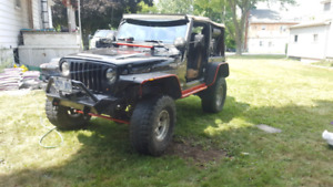 2003 tj 4 inch lift on 33s trade for VW TDI or other 4 door car