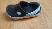 LOST Blue Toddler Croc Shoe near Del Crary Park--Downtown area