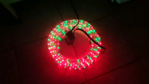 18' programable rope light, Red-Green