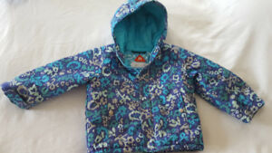 Toddler Girls - Size 2T Columbia Snowsuit with matching hat
