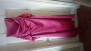 New strapless pink gown with sash