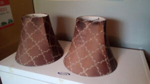2 brown lamp shades in Brighton
