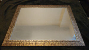 Large Glass Mirror w/ Wooden Frame
