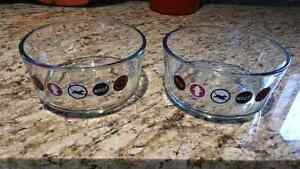 Glass pet dishes 4 cups