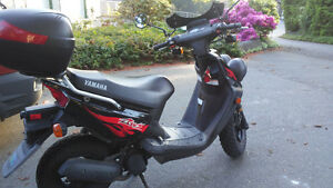 Black Yamaha Scooter, excellent condition