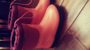 Girls winter BOGS and Cougar boots.