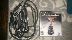 Rocksmith game with cable for ps3