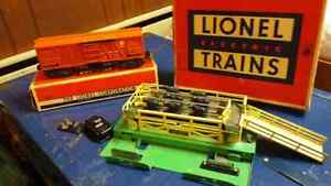 O scale train Lionel cattle car and stock yard