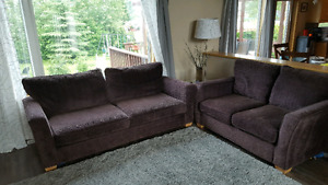 Couch and Loveseat Eggplant Color