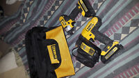 Dewalt cordless set 20 volt lithium ion drill and impact driver