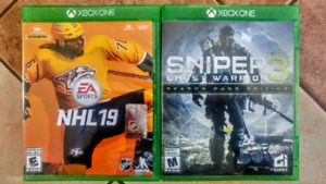 JEUX XBOX ONE - NHL 19 ET SNIPER GHOST WARRIOR 3