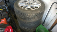 P235/50R18 Toyo Observe Winter Tires on Mustang 5 bolt tims