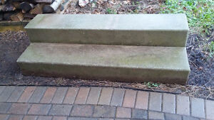 Chain Link Fence and Concrete Steps