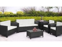 7 Seater Deluxe Chunky Rattan Sofa Set