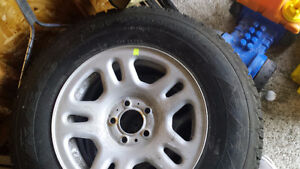 Winter Tires and Rimms - Like new for SUV/Small Truck - $550 OBO Kingston Kingston Area image 3