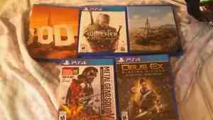 Ps4 games all mint