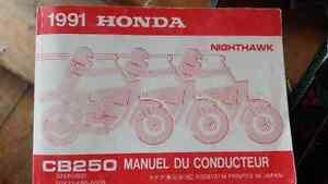 Honda CB250 1991 nighthawk manual