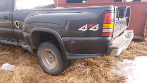 4.10 gmc chevy 3500 dually  durmax diffs  rims and tires