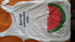 """Don't Eat Watermelon Seeds"" Maternity Top"