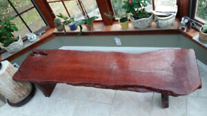 Live Edge Wood Coffee Table / Bench