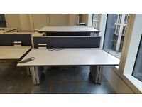 3 X Twin and 1 single sit stand twin double height adjustable desks. Delivery.