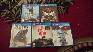 5 Playstation 4 games for sale.