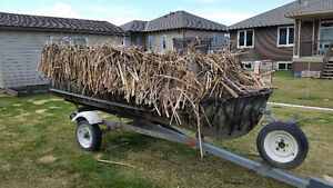 BOAT, TRAILER AND DUCK BLIND