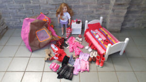 "MAPLELEA 18"" DOLL WITH CLOTHES AND ACCESSORIES"
