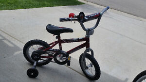 Bicycle with trainer. Good for 3yrs old and up.