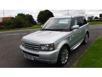 "LAND ROVER RANGE ROVER SPORT 2.7 TDV6 SPORT,2008,BLACK LEATHER,20""ALLOYS,SAT NAV"