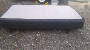 Single box spring and frame