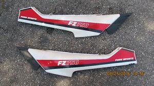 Yamaha FZ 750 1985-1987 tail side panels._