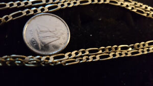 "10K Yellow Gold Figero Chain 19.5"" long Weighs 5.7g"