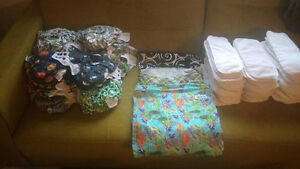 HUGE CLOTH DIAPER LOT ***40 DIAPERS, 12 UNISEX PATTERNS***