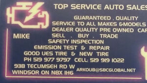 SAFETY INSPECTIONS & EMISSION TEST TOP SERVICE AUTO SALES MIKE