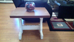 Two solid Wood  Rustic end table /side tables