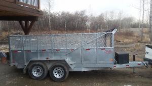 2015 HEAVY DUTY dump trailer 8' x 14' Galvanized