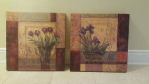 Flower Wall Art Painting (set of 2)