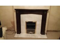 MARBLE ADAMS STYLE FIRE SURROUND