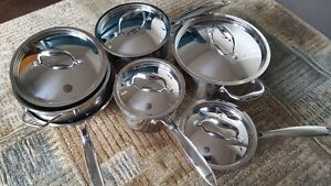 Quality Canadian made Paderno pots and pans