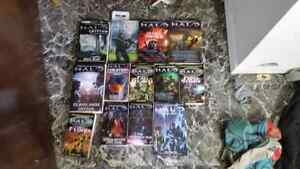 Lots of HALO books. Good Condition
