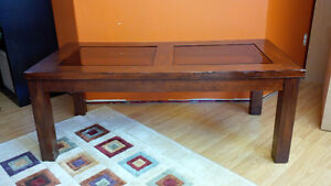 Coffee Table with Beveled Glass Inserts