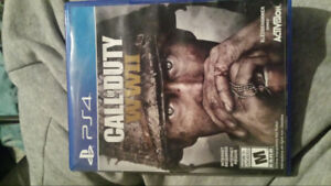 Call of duty ww2 . For ps4 45$