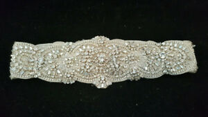 Blossom Veils crystal sash bridal Wedding Belt Ivory Swarovski