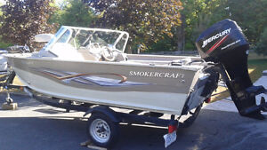 Smokercraft with Trailer for sale