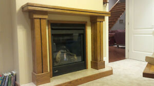 Solid Oak Fireplace Mantle - NEW Kitchener / Waterloo Kitchener Area image 3