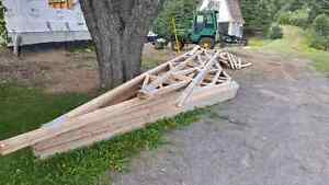 30ft span engineered trusses