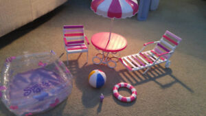 Doll patio set